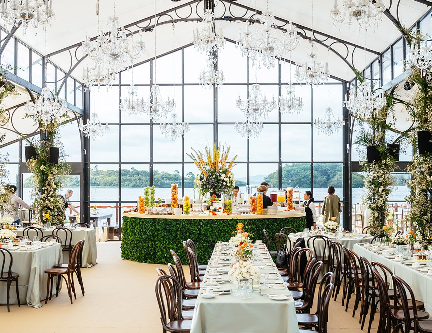 Ashford Castle, Wedding ceremony, Marquee ceremony, Event planner in Ireland, Wedding Planner in Ireland, Destination Weddings, Olivia Buckley International, lakeside Brunch