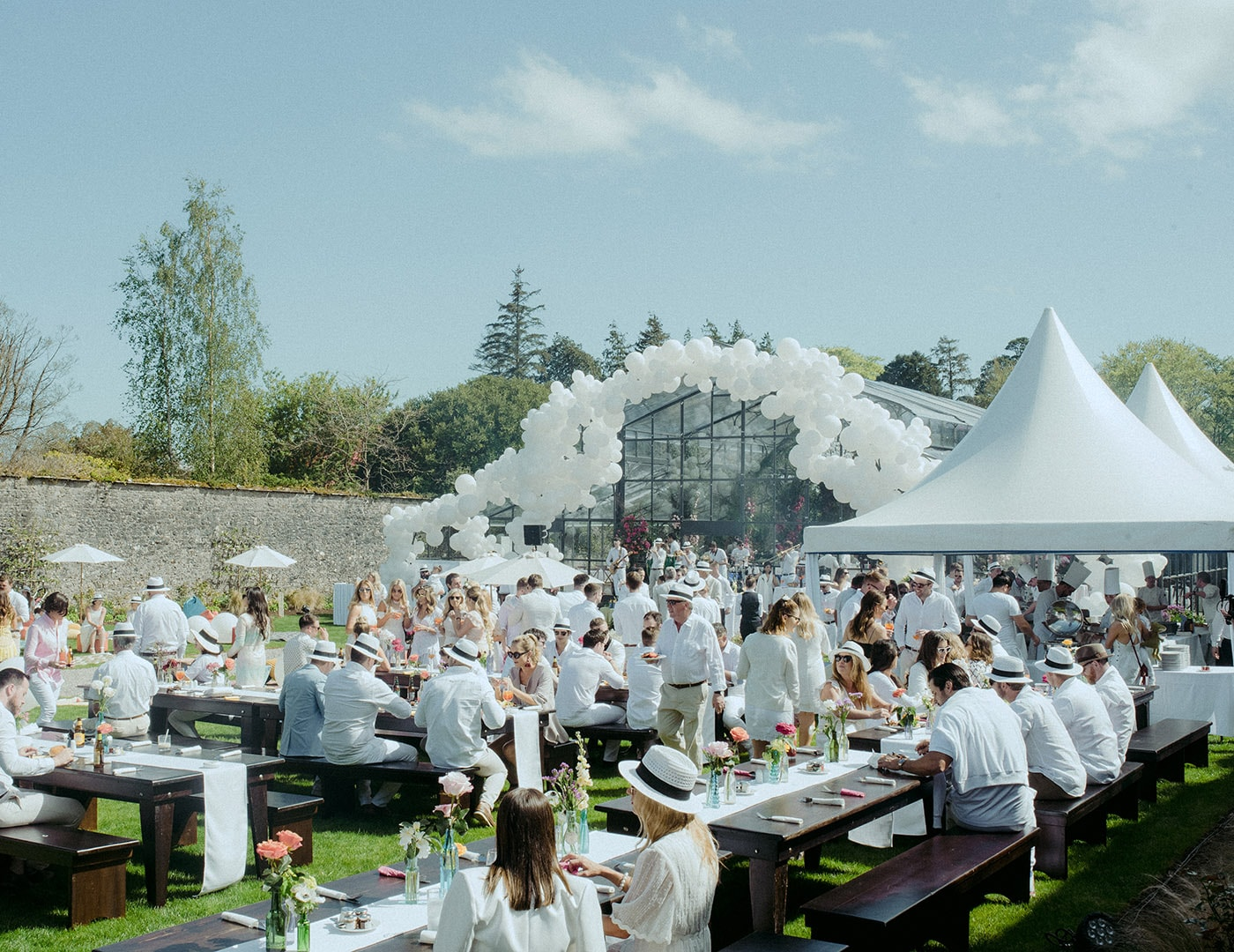 White Party, Destination Weddings Ireland, Adare Manor, Olivia Buckley International, Wedding planners in Ireland, Event Planners in Ireland