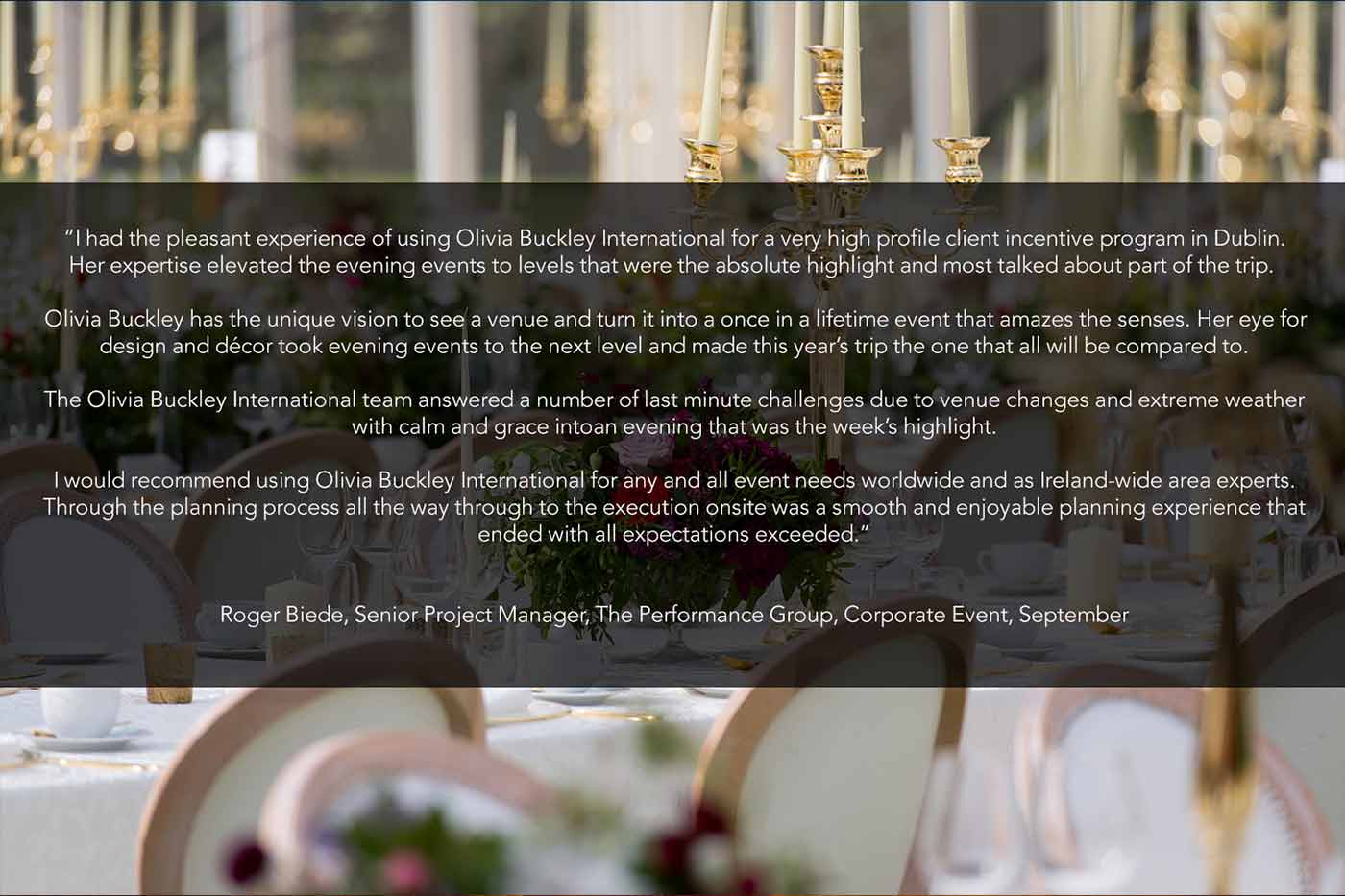 Event Planner in Ireland, Wedding Planner in Ireland, Destination Weddings, Olivia Buckley International