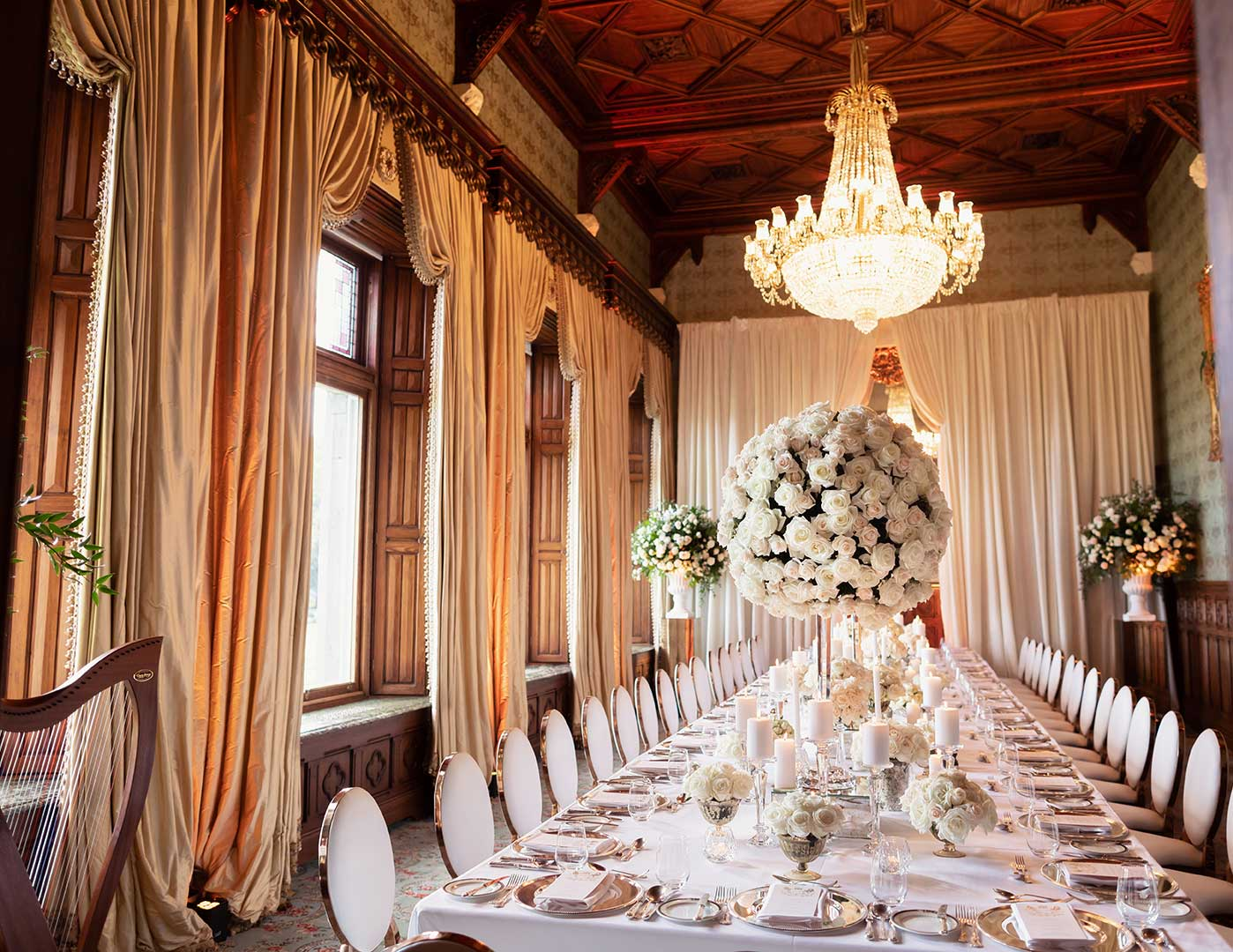 Destination Weddings Ireland, Ashford Castle, Olivia Buckley International, Wedding planners in Ireland, Event Planners in Ireland, Connaught Room dinner