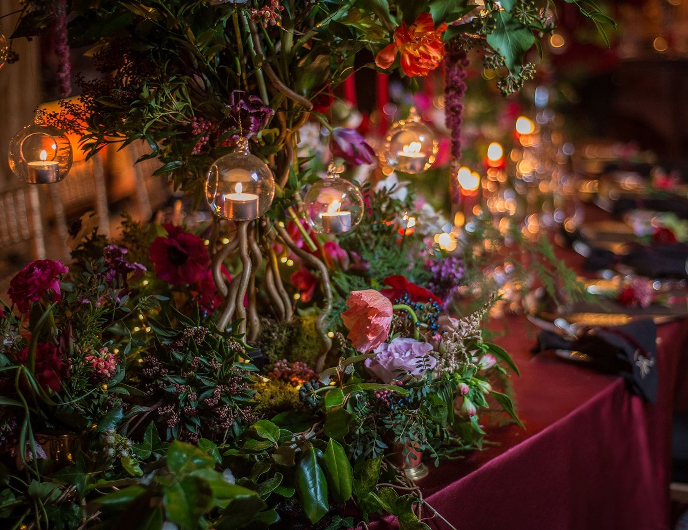 Christmas table setting, Christmas table, Christmas decorations, Destination Wedding Ireland, Event Planner in Ireland, Party Planner, Olivia Buckley International