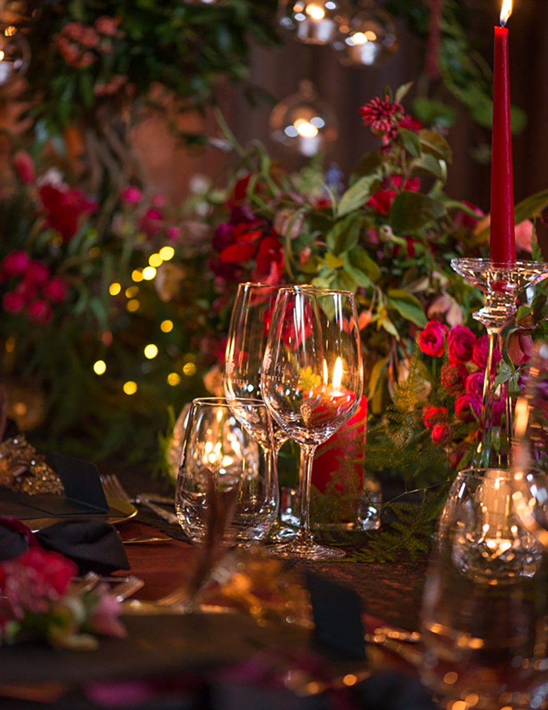 Christmas table setting, Ashford Castle, Christmas table, Christmas decorations, destination wedding ireland, Event Planner in Ireland